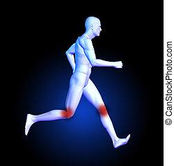 Medical man running