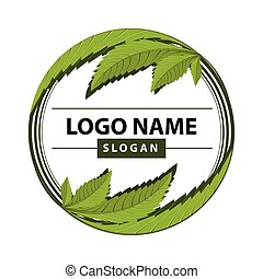 cannabis green leaf logo. - medical marijuana, cannabis...