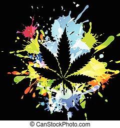 Medical marijuana ink blots