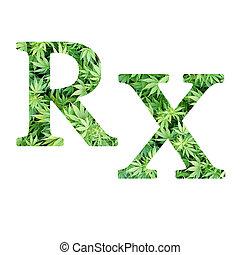 Medical Marijuana RX - Medical Marijuana Pharmacy RX symbol...