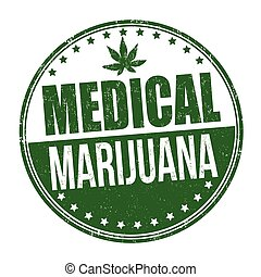 Medical marijuana sign or stamp