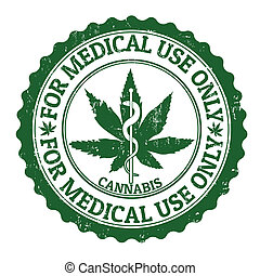Medical marijuana stamp - Medical marijuana grunge rubber...