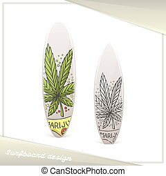 Medical Marijuana Surfboard Ten