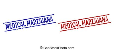 MEDICAL MARIJUANA Watermarks with Unclean Texture and Parallel Lines