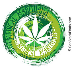 medical marijuana white leaf symbol