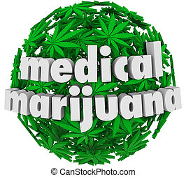 Medical Marijuana Words Leaves Legal Pharmacy - The words...