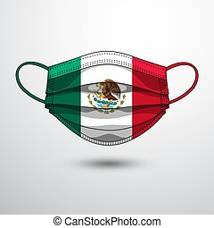 Medical Mask 8 - Medical Mask with National Flag of Mexico ...
