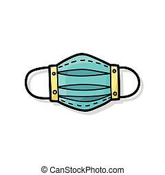 medical mask color doodle