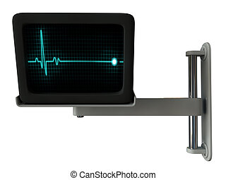 medical monitor isolated on white background