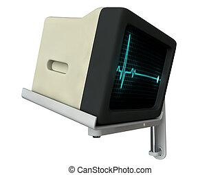 medical monitor isolated on white background
