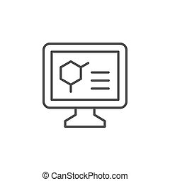 Medical monitor line outline icon