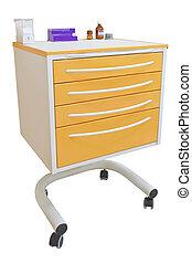 movable bedside-table - Medical movable bedside-table ...
