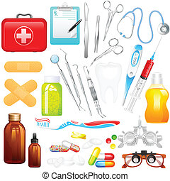 Medical Object - easy to edit vector illustration of medical...