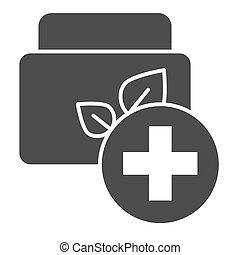 Medical ointment solid icon. Cream vector illustration isolated on white. Skin care glyph style design, designed for web and app. Eps 10.