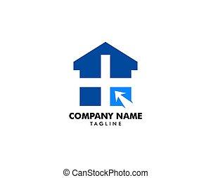 Medical Online Logo Design Template Element