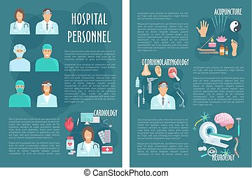 Medical or hospital healthcare vector brochure - Medical...