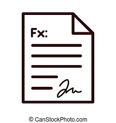 medical order document line and fill style icon