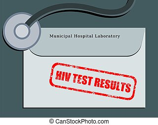 HIV test - Medical patient file folder - HIV test results in...