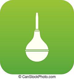 Medical pear icon digital green