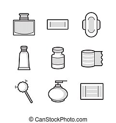 Medical Pharmacist, Basic equipment  Icons