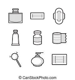 Medical Pharmacist, Basic equipment  Icons