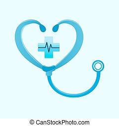 Medical phonendoscope sign