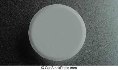 Medical pill. Close up. Medicine And Drugs. - White soluble...