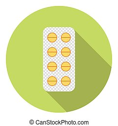 Medical Pills Pack Flat Icon