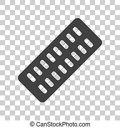 Medical Pills sign. Dark gray icon on transparent background.