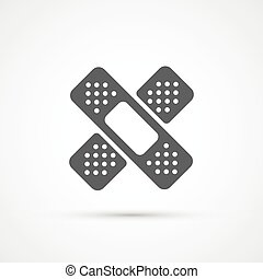 Medical plaster flat trendy icon. Vector