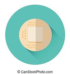 Medical Plaster Icon Flat Vector Illustration