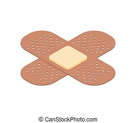 Medical plaster isolated isometric style. Vector illustration