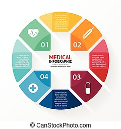 Medical plus sign healthcare hospital infographic - Layout...