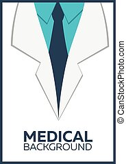 Medical Poster, concept, background. Flat design.