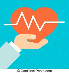 medical poster with heart