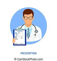 medical prescription concept