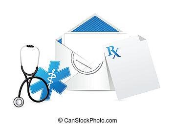 medical prescription envelope letter
