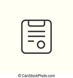 Medical prescription line icon