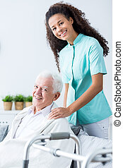 Medical private home care - Image of old male and medical...
