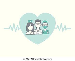 Medical professional concept