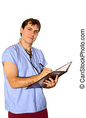 Medical Professional with notebook