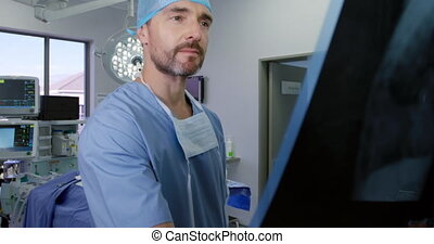 Medical professional working at a hospital