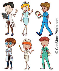Medical professionals - Illustration of the medical...