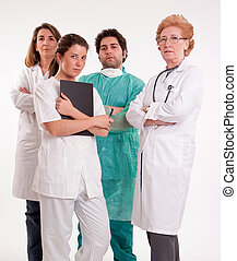 Medical professionals team
