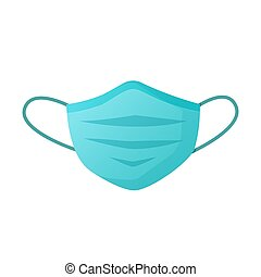 Medical protective face mask isolated on white. - Vector ...