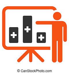 Medical Public Report Icon - Medical Public Report glyph...