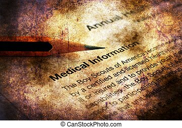 Medical record grunge concept