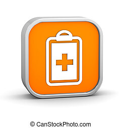 Medical Record Sign - Medical Record sign on a white...