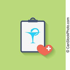 Medical Record with Caduceus Snake