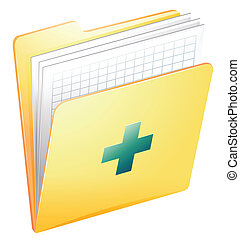 Medical records - Illustration showing the medical records ...